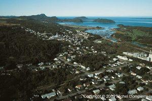 Vue aérienne du Bic et de ses îles