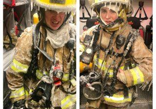 Pompiers gelés